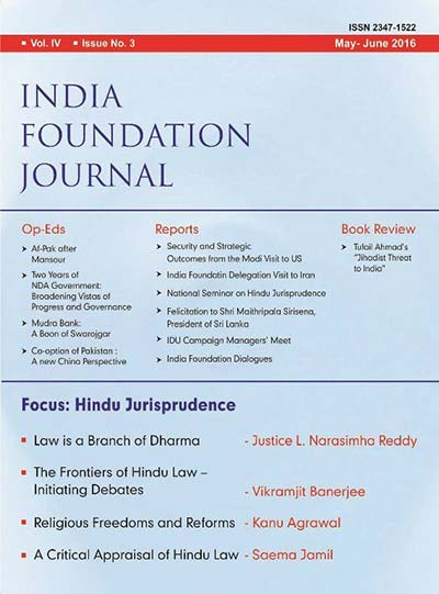 India Foundation Journal Issue 3 (Vol. IV)